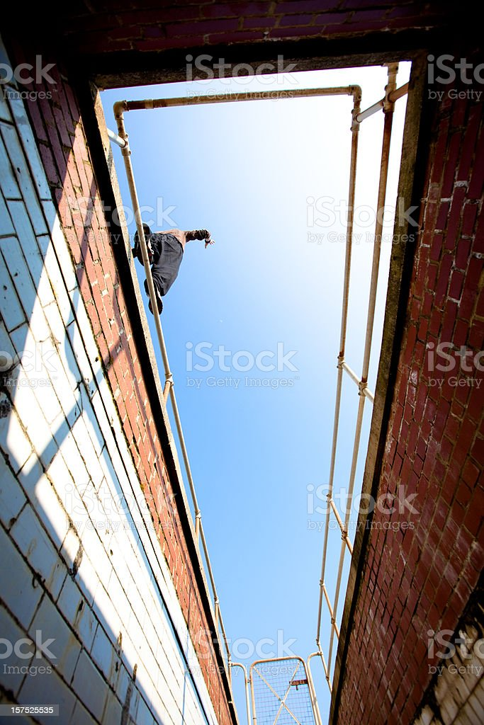 Parkour and freerunning royalty-free stock photo