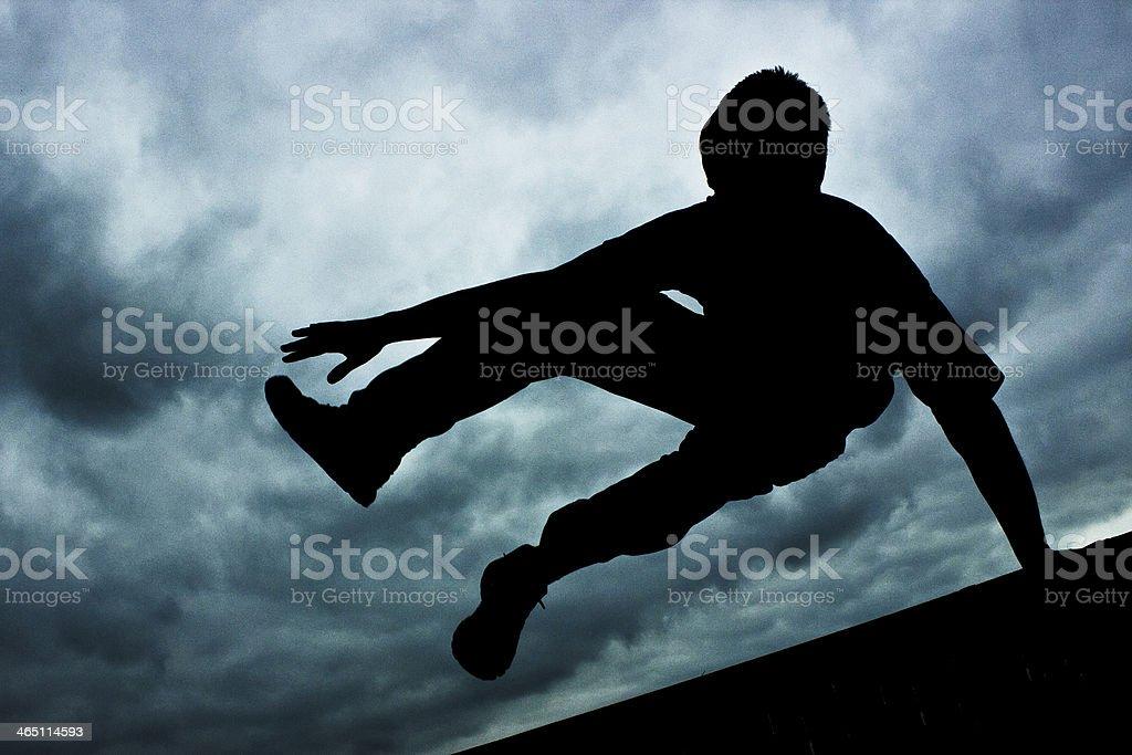 Parkour jump stock photo