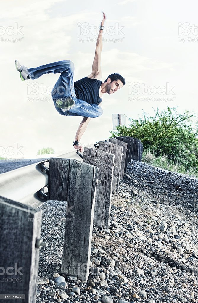 Parkour royalty-free stock photo