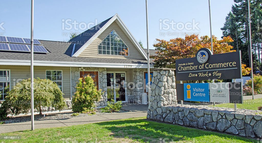 Parksville Tourist Information Building. stock photo