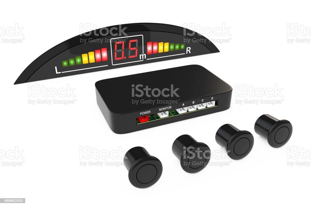 Parktronic Car System Kit. 3d Rendering stock photo