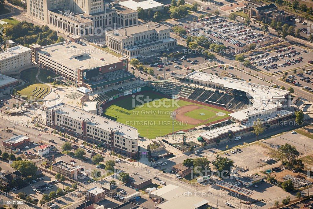 Parkview Field and Tin Caps Ballpark stock photo