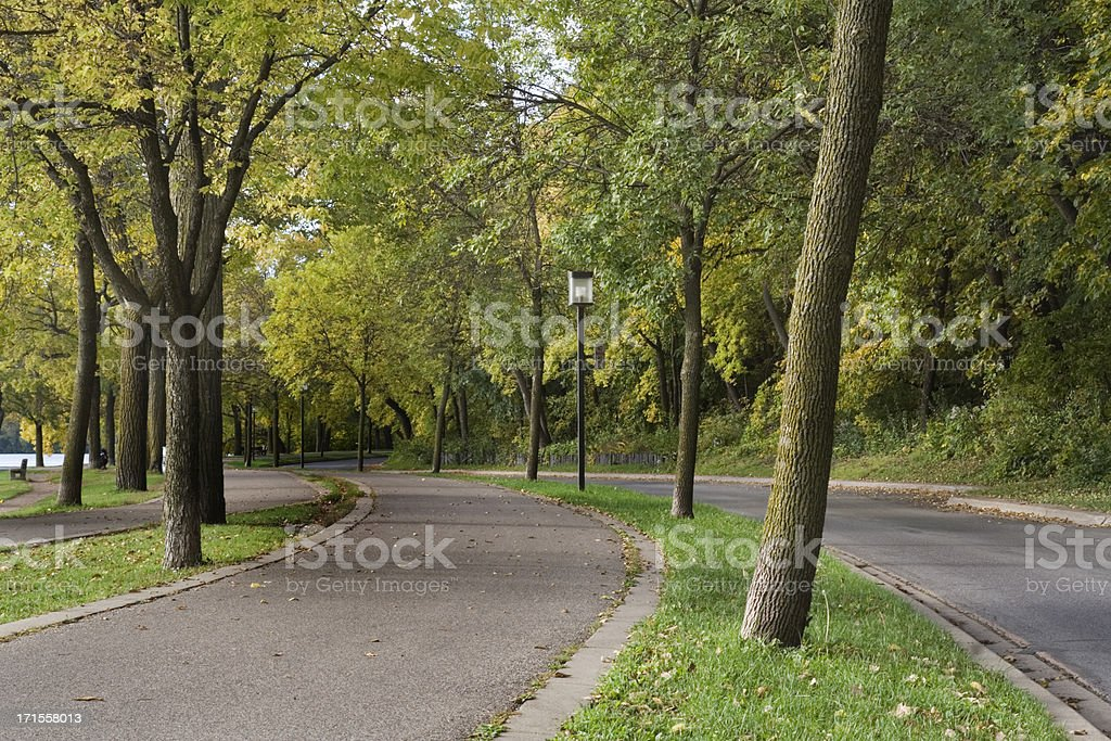 Parkway in the Fall royalty-free stock photo