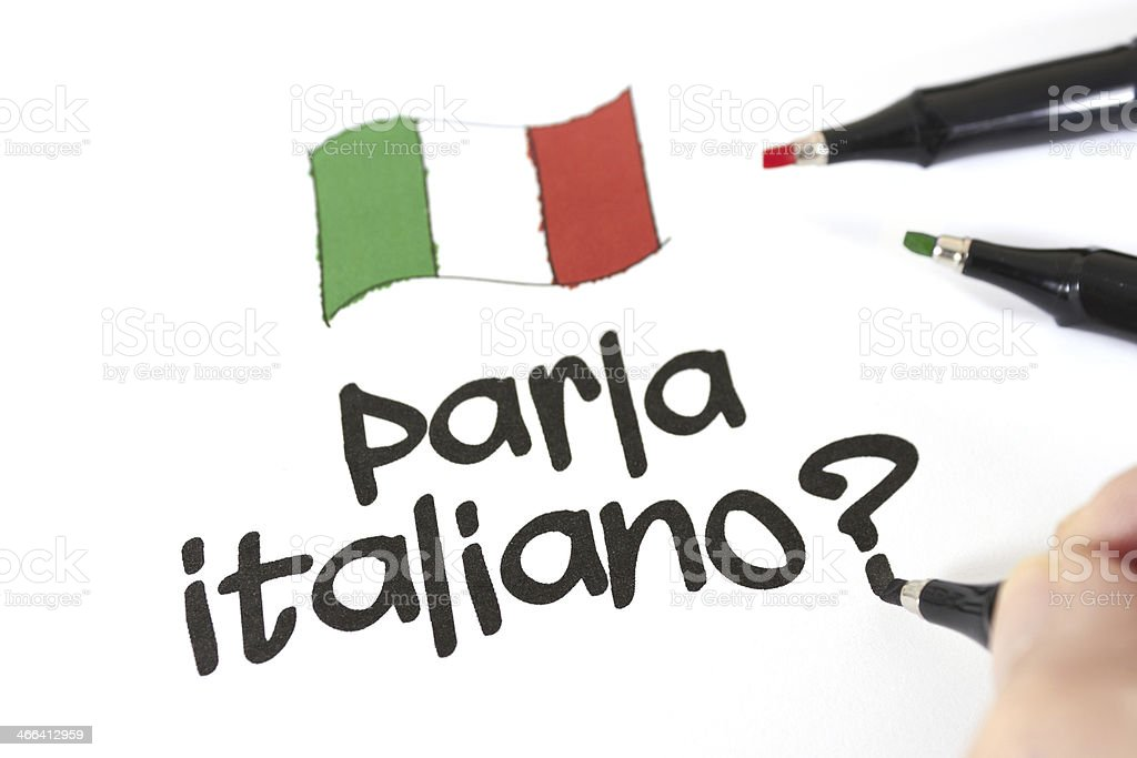Parla italiano? stock photo
