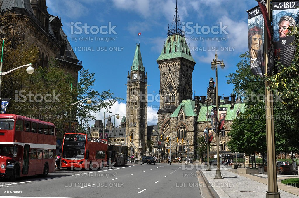 Parliament and Peace Tower, Ottawa, Canada stock photo