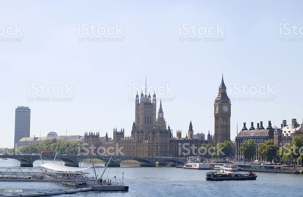 parliament and river royalty-free stock photo