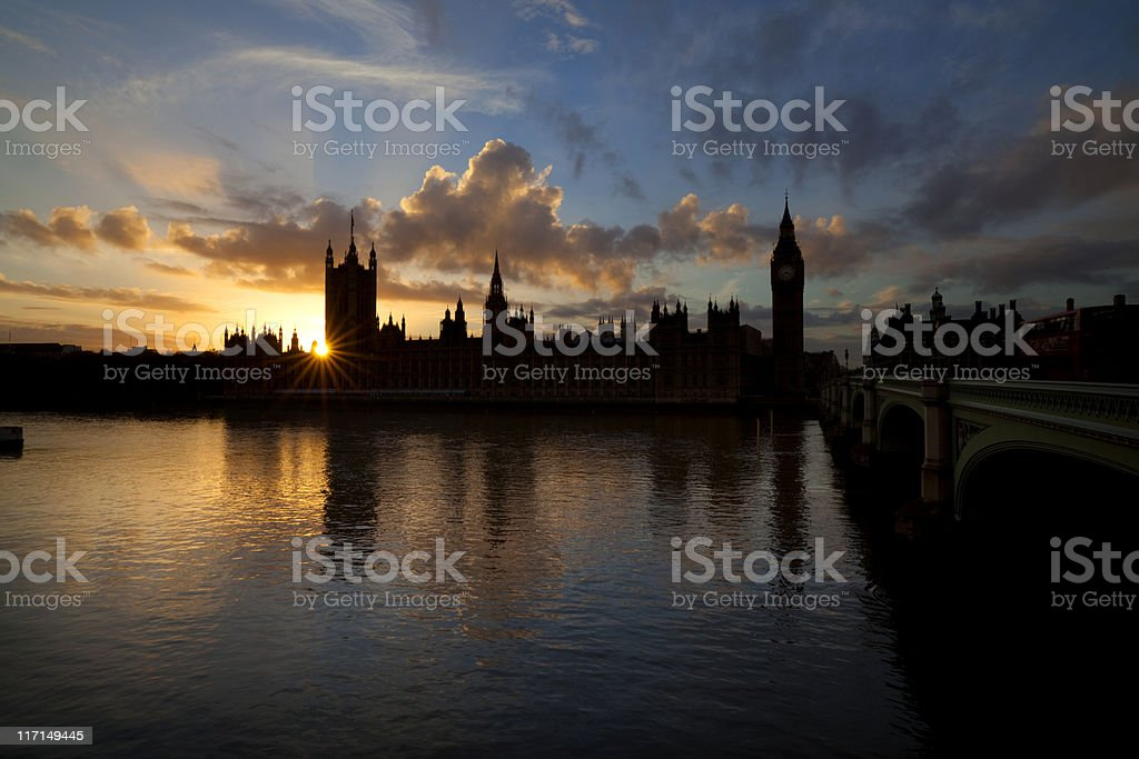 Parliament At Sunset royalty-free stock photo