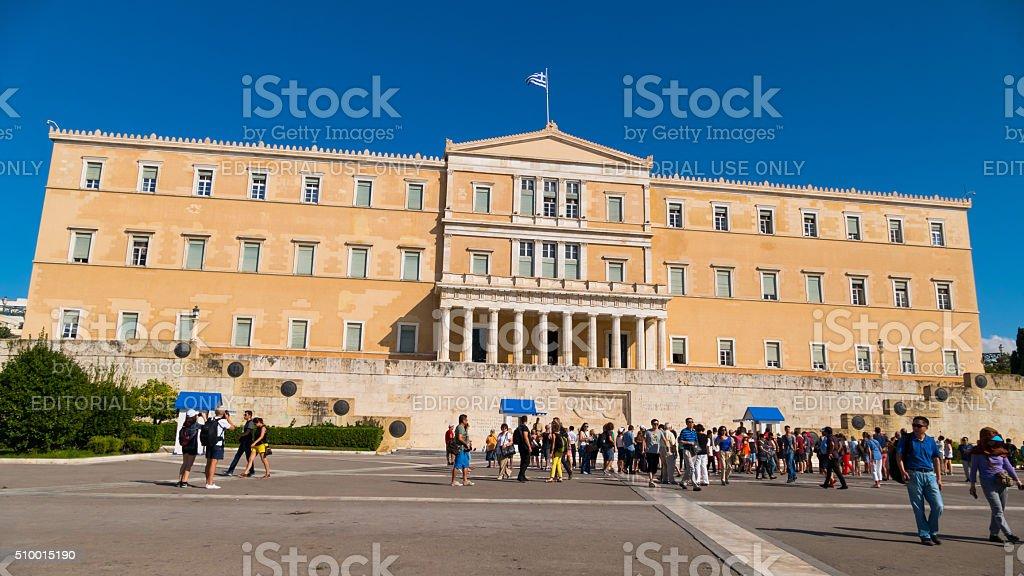 Parliament Athens, Greece stock photo
