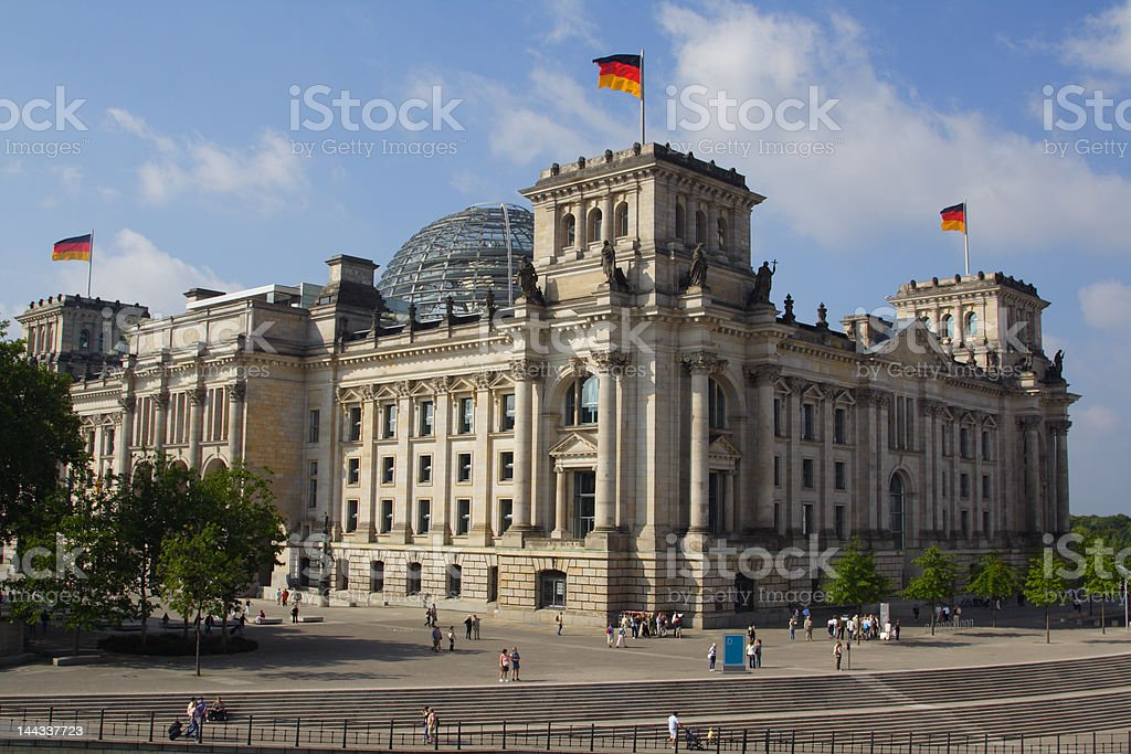 Parliament Building Berlin/Germany royalty-free stock photo
