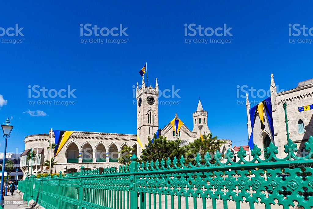 Parliament Building, Bridgetown, Barbados stock photo