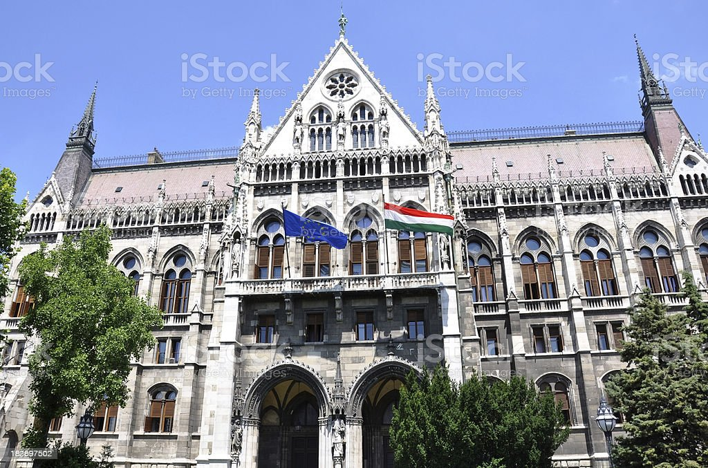 Parliament Building, Budapest, Hungary royalty-free stock photo
