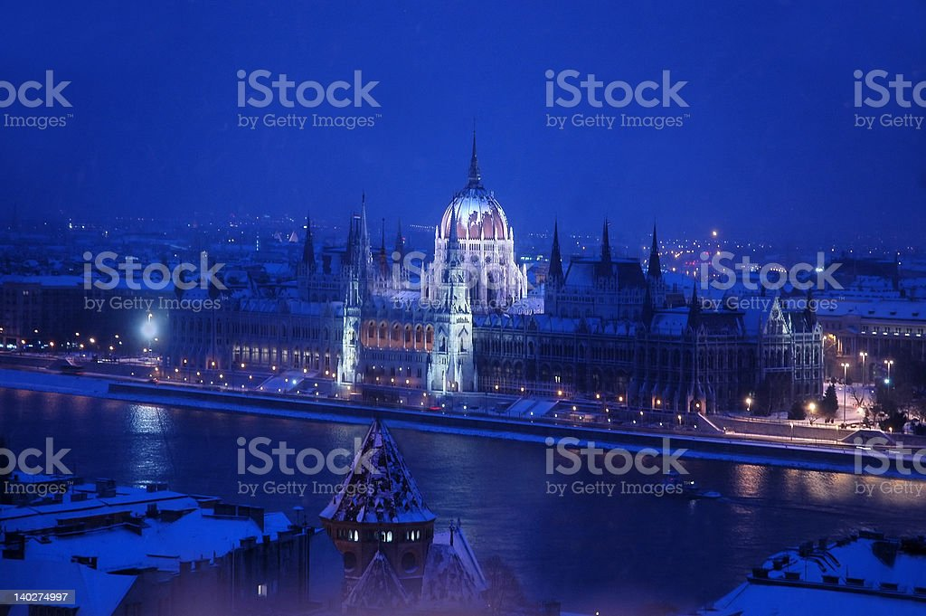 Parliament Building Budapest royalty-free stock photo