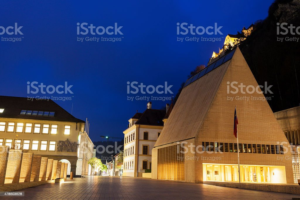 Parliament building evening time stock photo