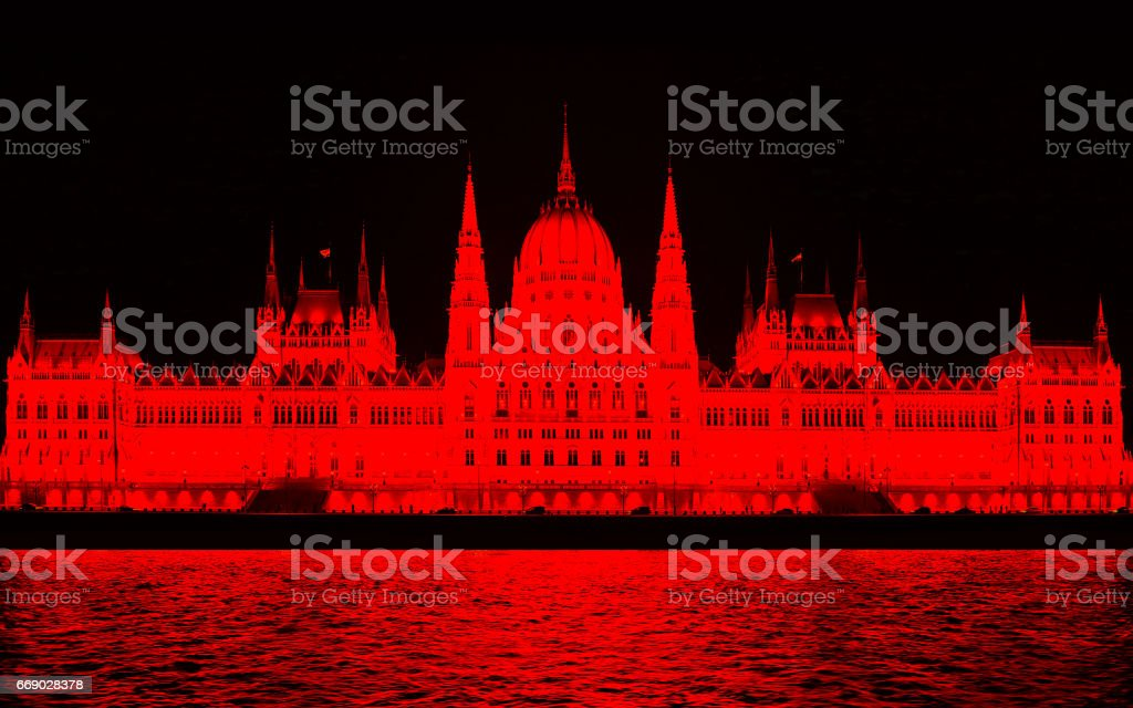 Parliament building in Budapest. stock photo