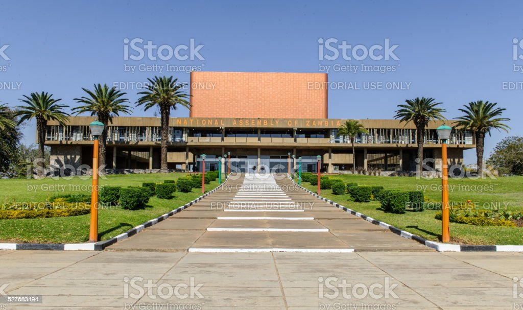Parliament Building in Lusaka Zambia stock photo