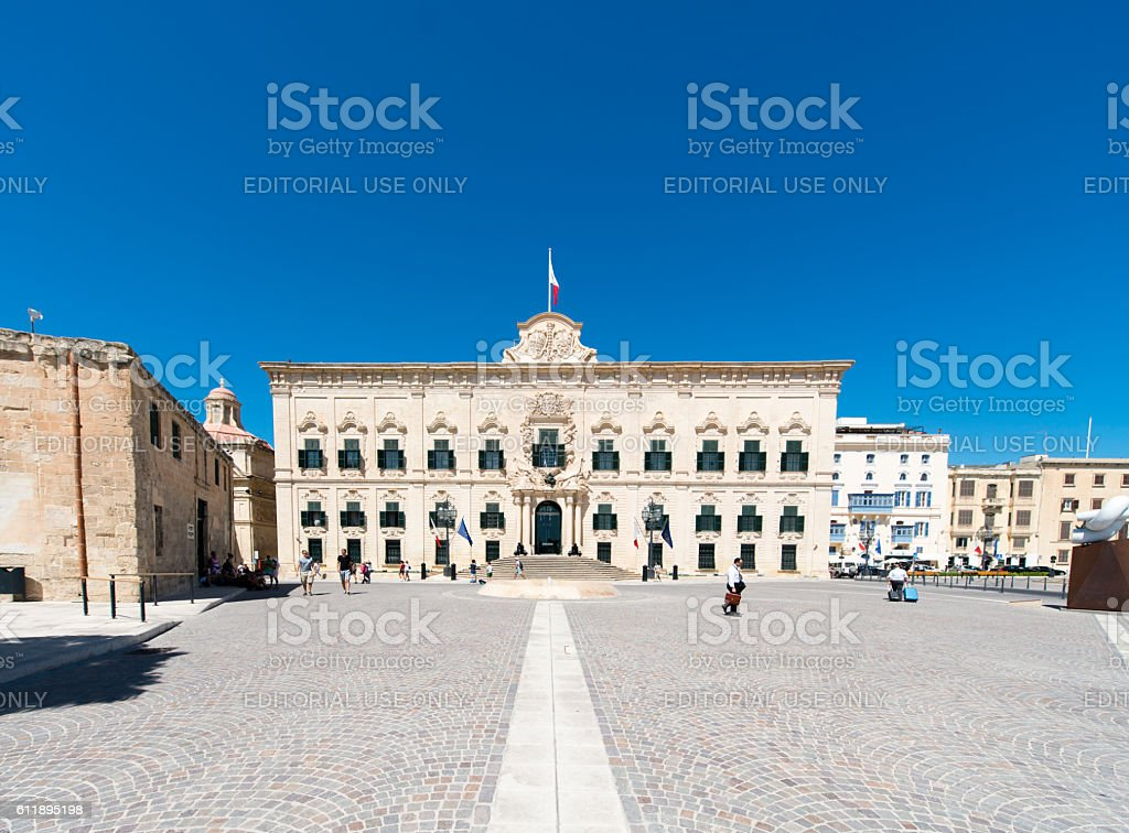 Parlament building in Malta stock photo