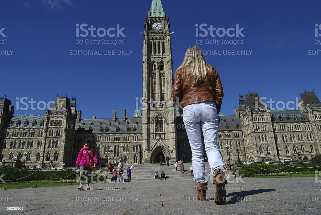 Parliament Building in Ottawa stock photo