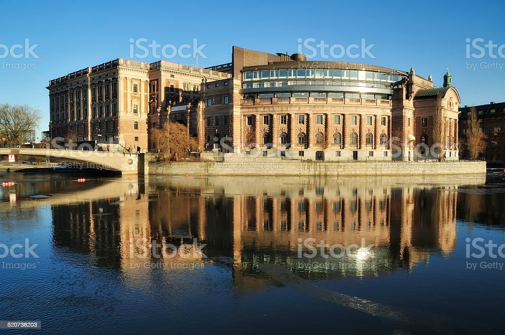Parliament building in Stockholm stock photo