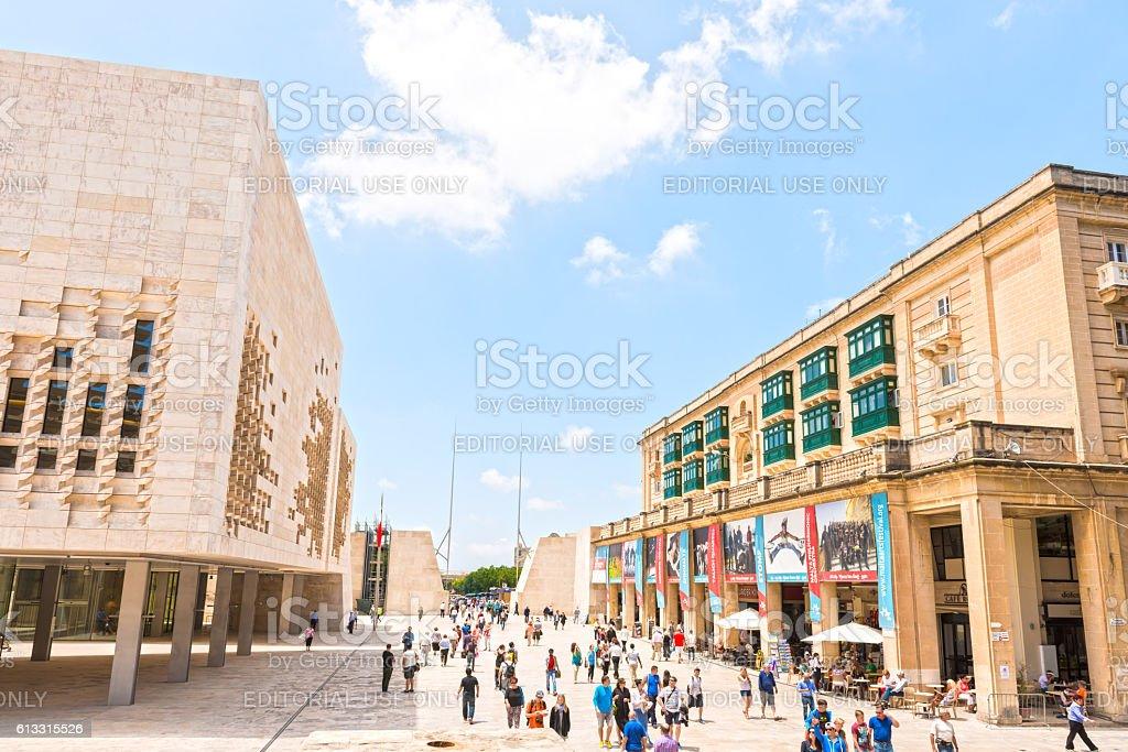 Parliament building in Valletta, Malta stock photo