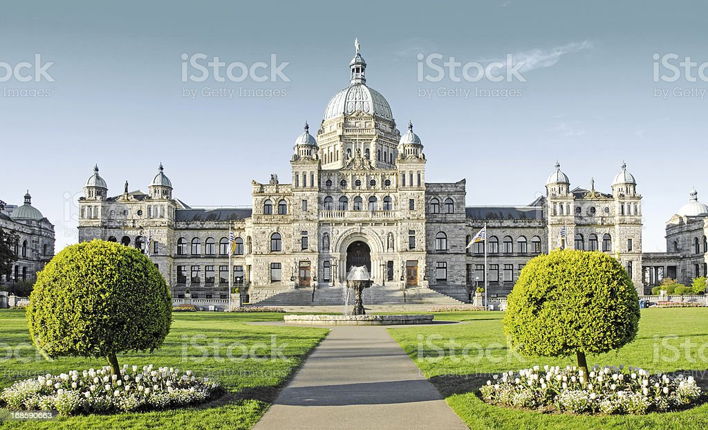 Parliament Building in Victoria, British Columbia stock photo