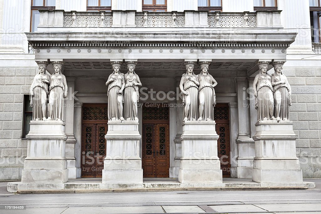 Parliament building of Austria, side entrance royalty-free stock photo