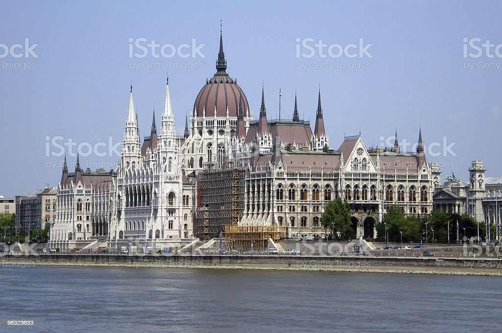 parliament building of Hungary, Budapest city royalty-free stock photo