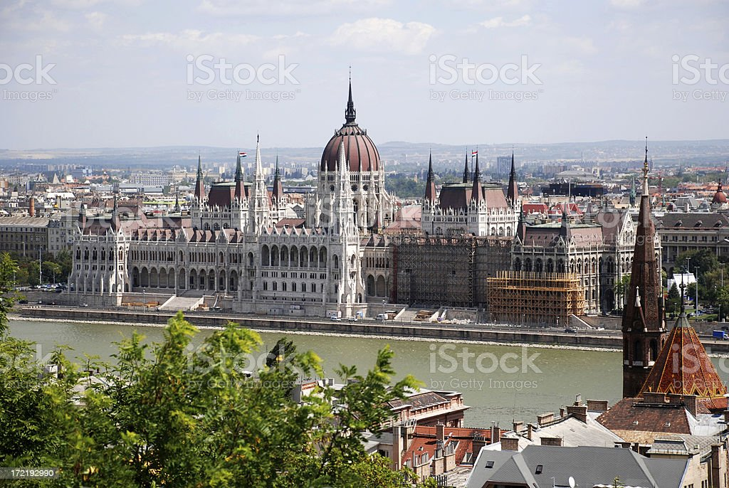 parliament building of Hungary in Budapest city royalty-free stock photo