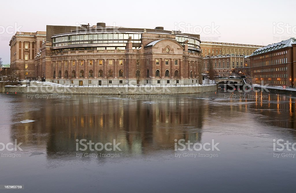 Parliament building, Stockholm. stock photo