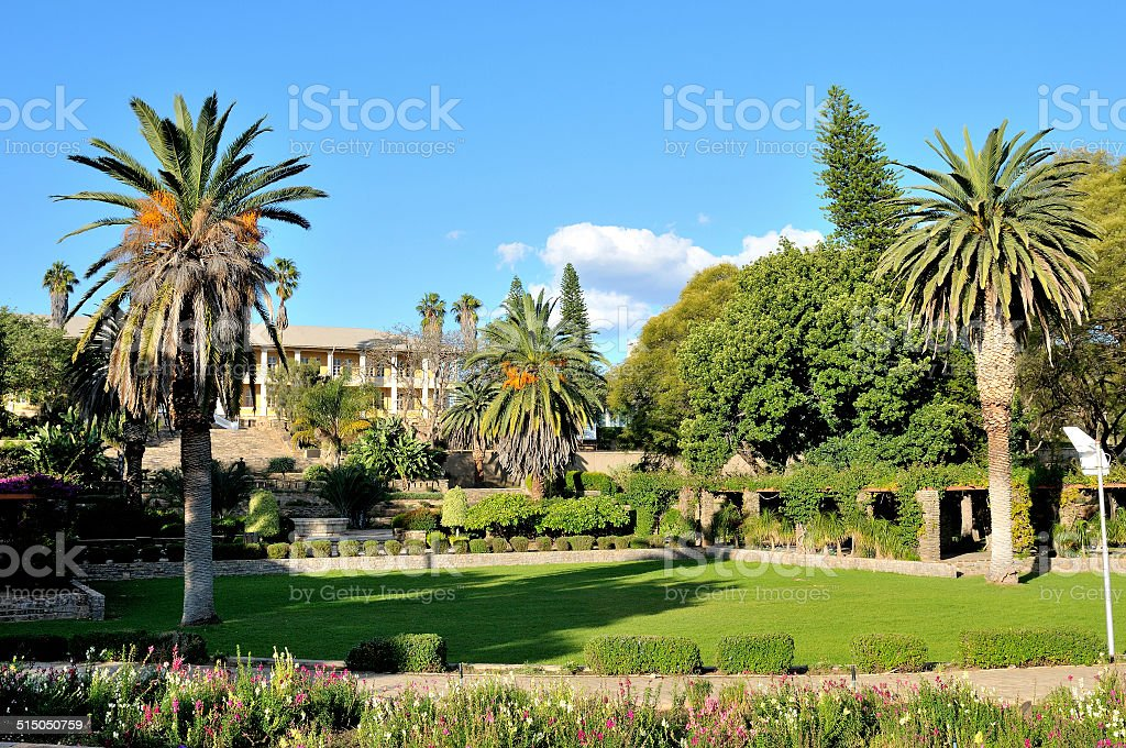 Parliament building, Windhoek, Namibia stock photo