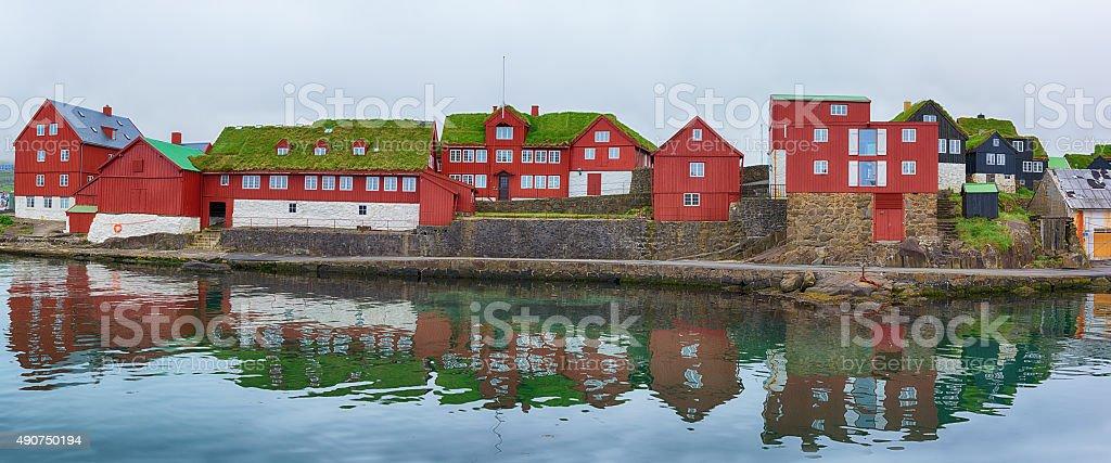 Parliament buildings in Torshavn, Faroe islands. stock photo