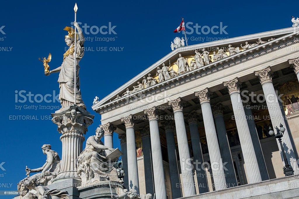 Parliament Buildings - Vienna - Austria stock photo