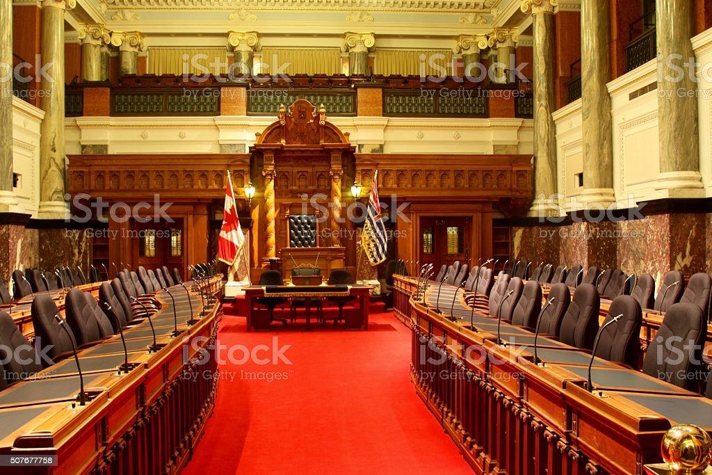 Parliament Chambers Inside The British Columbia Legislative Building stock photo