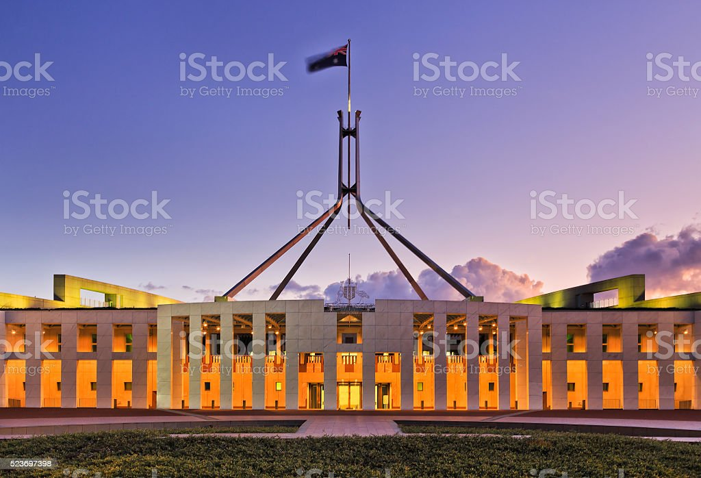 CAN Parliament Facade Set close stock photo