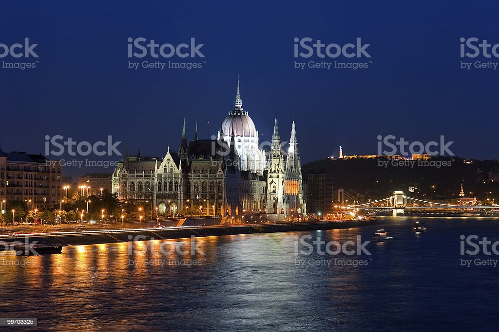 Parliament Hall in Budapest, Hungary royalty-free stock photo