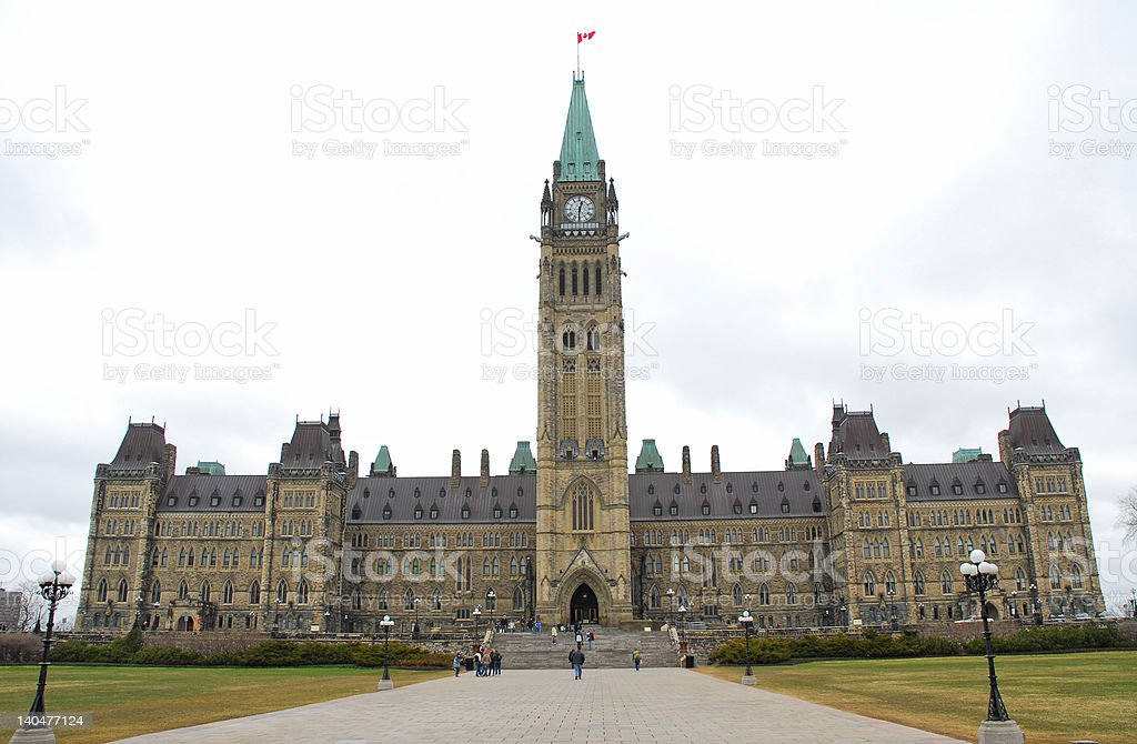 Parliament Hill Canada royalty-free stock photo