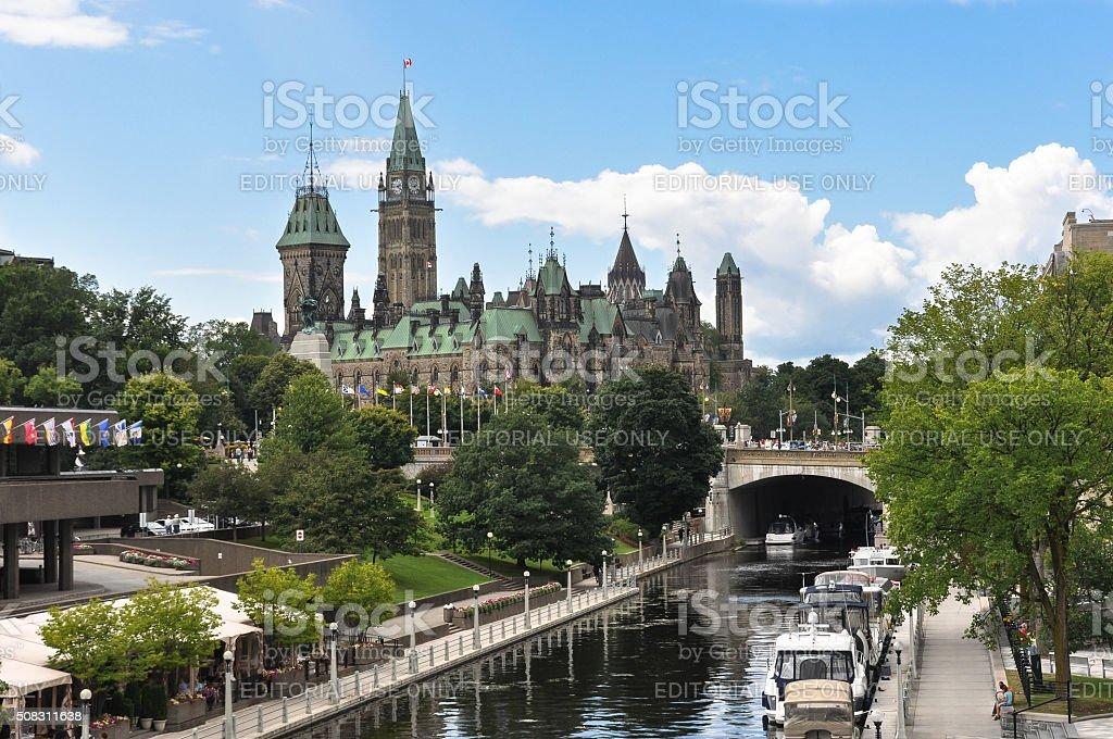 Parliament Hill in Ottawa, Canada stock photo