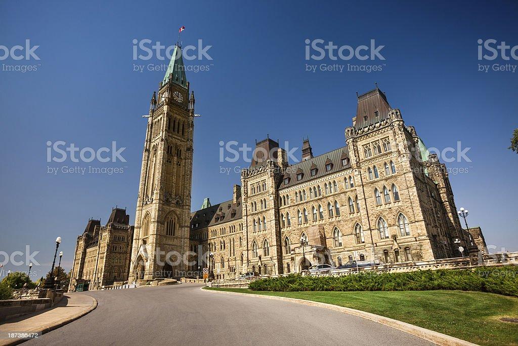 Parliament Hill in Ottawa stock photo