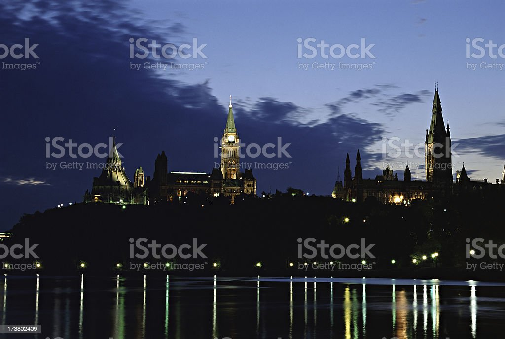 Parliament Hill in the Evening royalty-free stock photo
