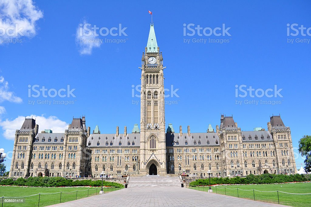 Parliament Hill of Canada stock photo