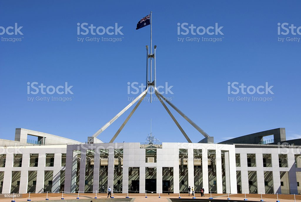 Parliament House - Australia stock photo