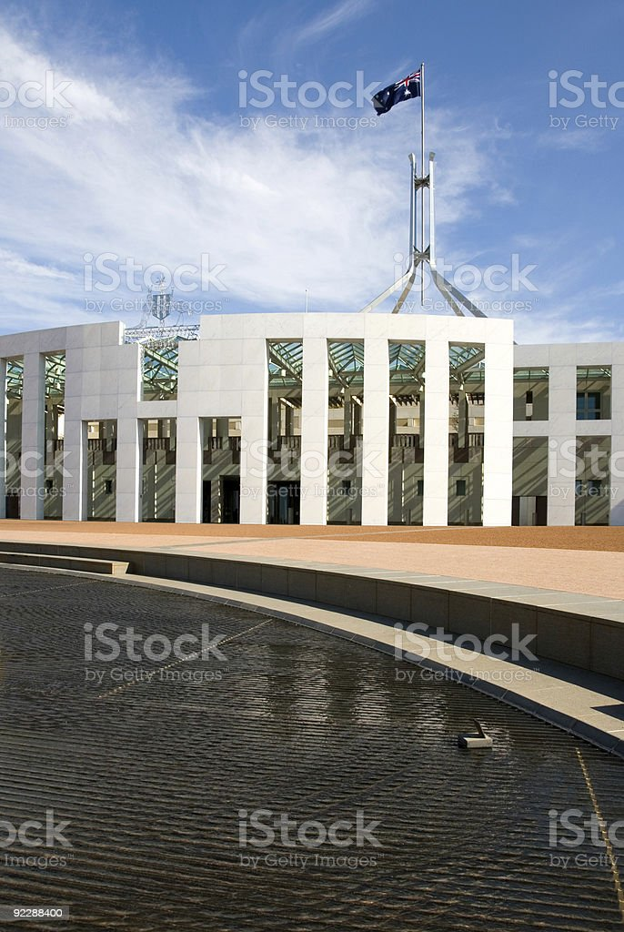 Parliament House, Canberra, Australia royalty-free stock photo