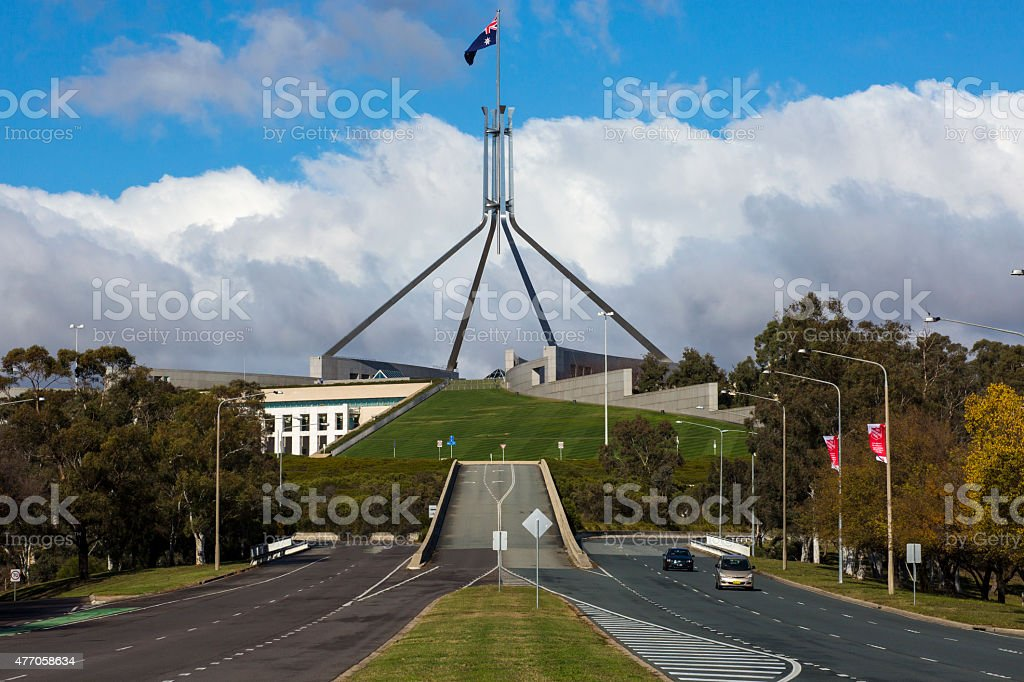 Parliament House, Canberra stock photo