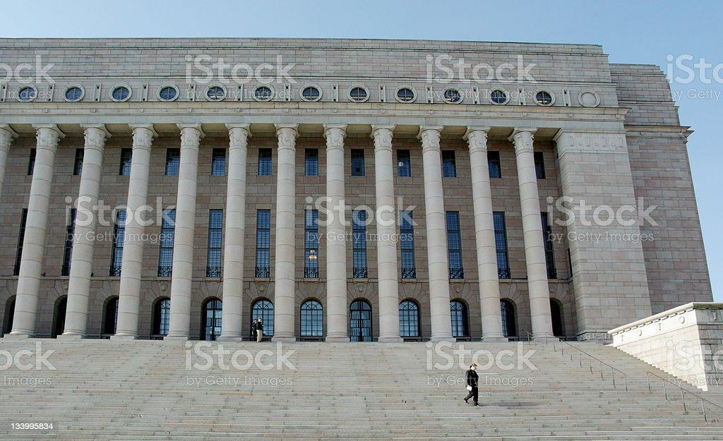 Parliament House Helsinki Finland royalty-free stock photo