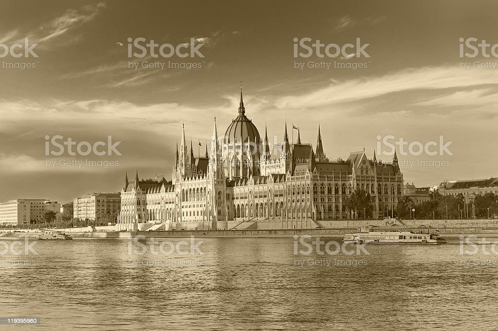 Parliament House in Budapest royalty-free stock photo