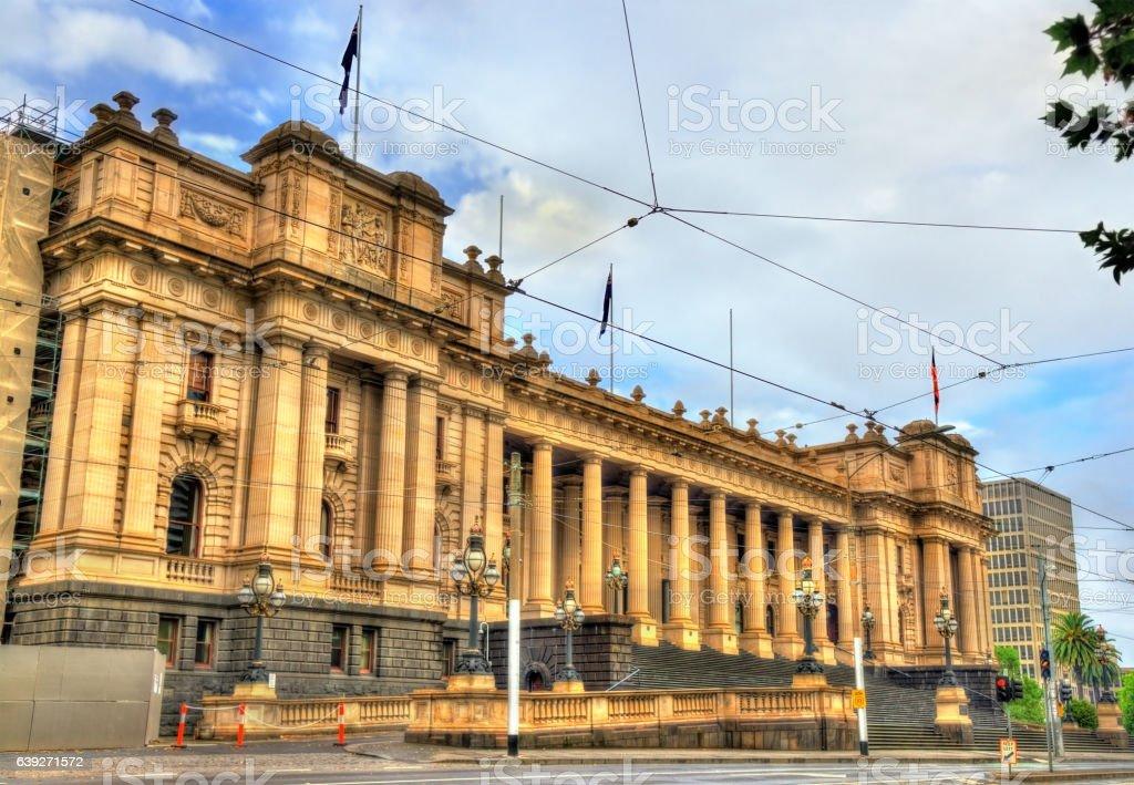 Parliament House in Melbourne, Australia stock photo