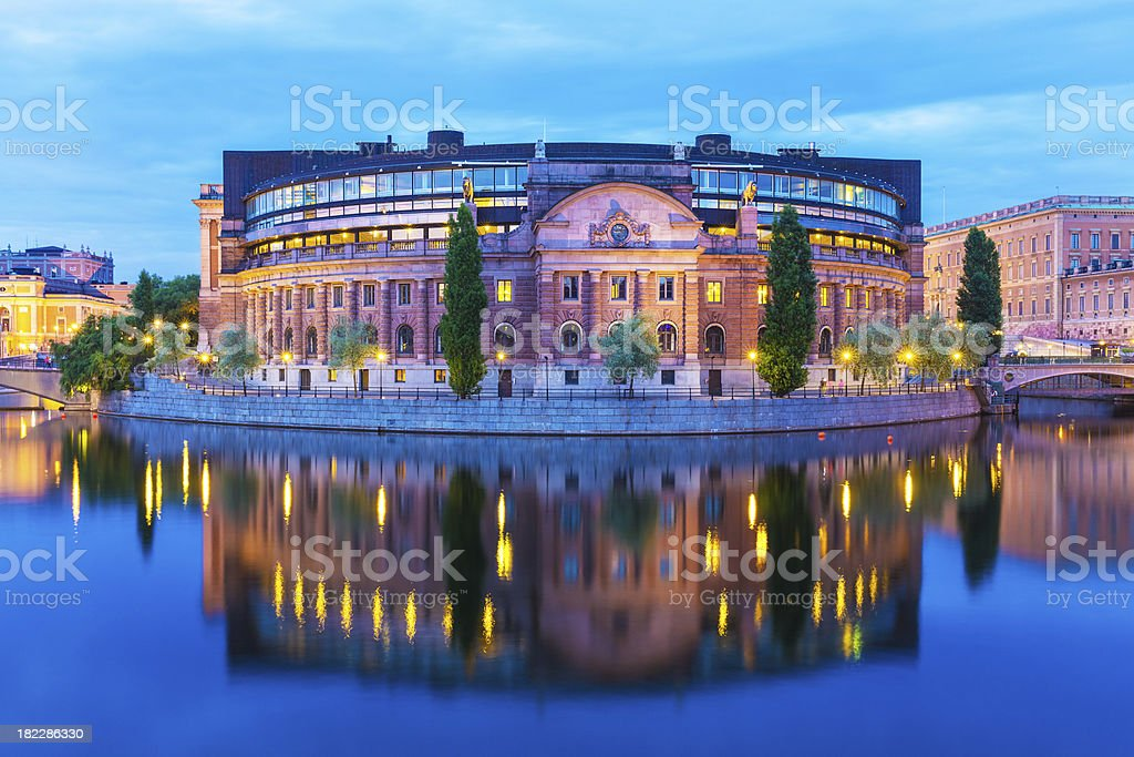 Parliament House in Stockholm, Sweden stock photo