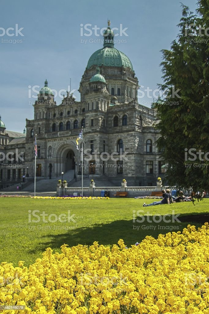 Parliament house in Victoria BC stock photo