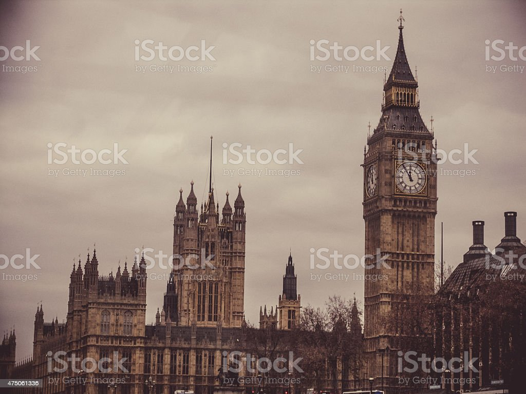 Parliament House with Clock Tower, Big Ben, London stock photo