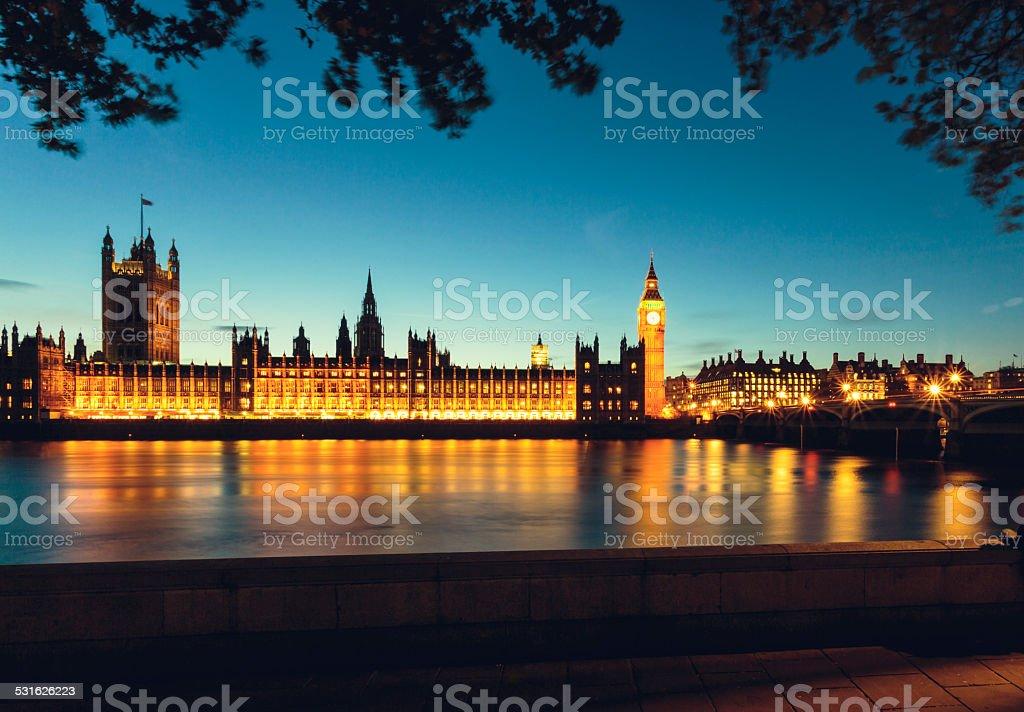 Parliament in London, UK stock photo