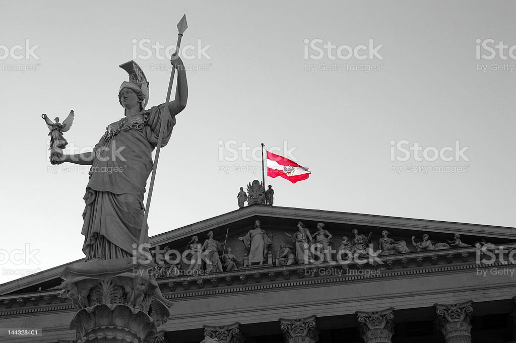 Parlament in Vienna 2 stock photo
